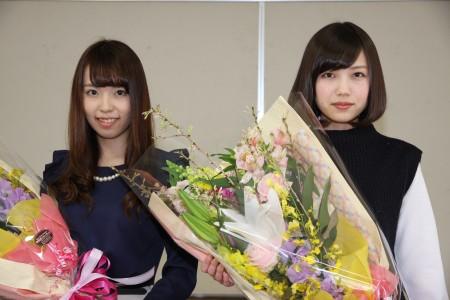 2016ミス尾道に選ばれた野田さん(左)井上さん.JPG