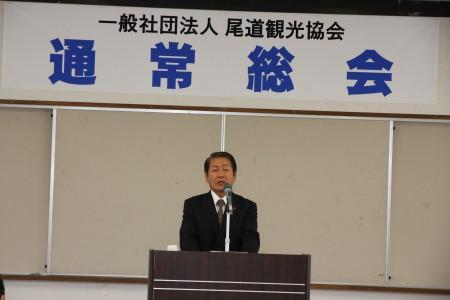 挨拶する川崎会長.JPG