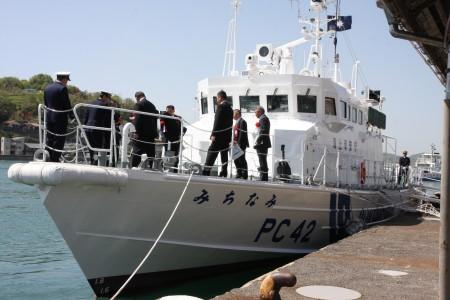 巡視艇の就役披露式.JPG
