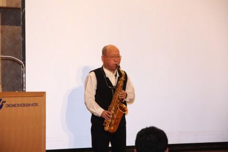講師 坂田明さん.JPG