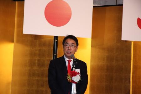 新年互礼会で挨拶する平谷市長.JPG