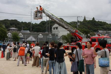 防災訓練 梯子車搭乗訓練.JPG